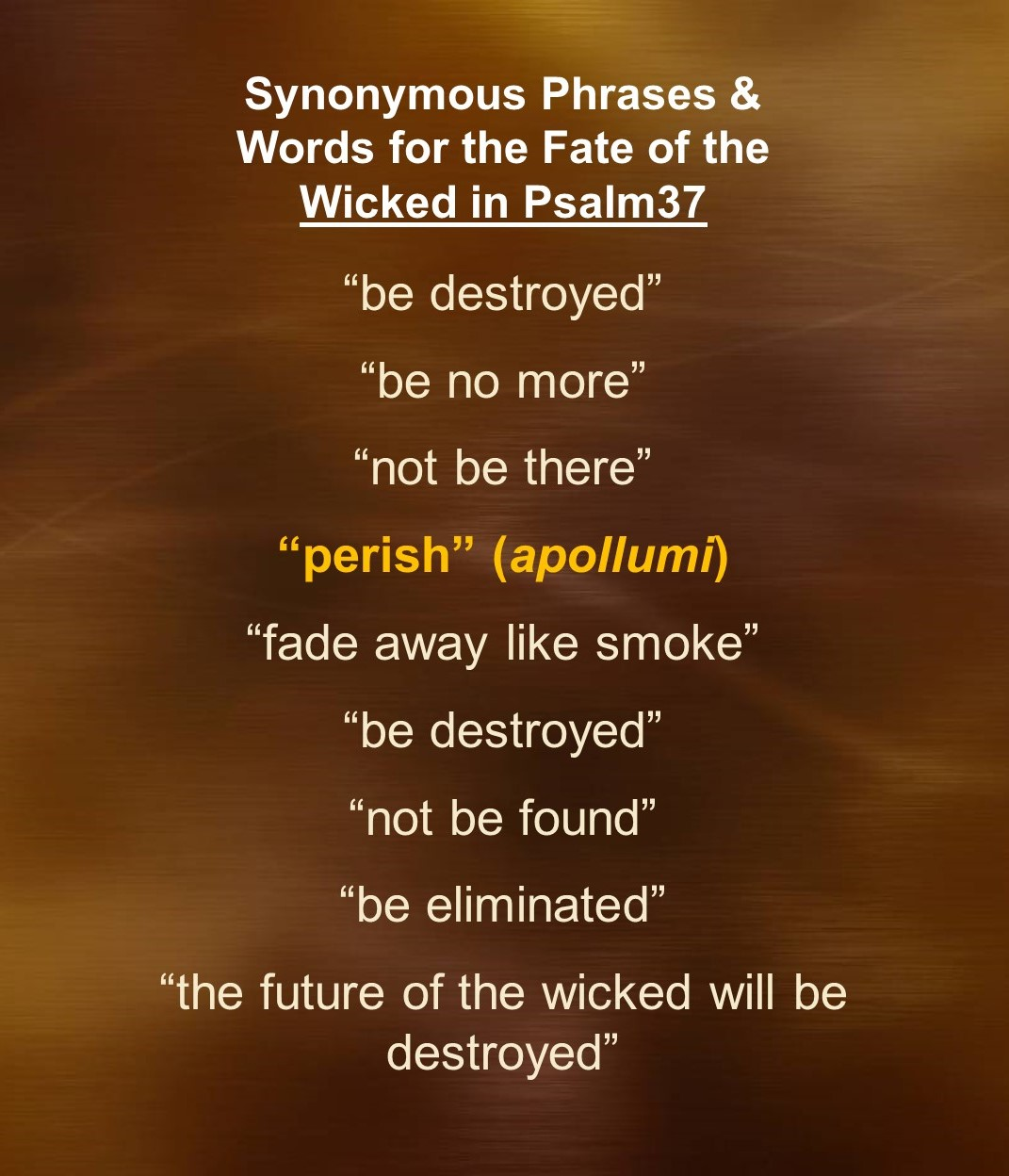Psalm 37—A Song of Annihilation   Rethinking Hell
